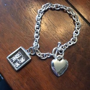 Jewelry - Tiffany Inspired Sterling Silver Charm Bracelet